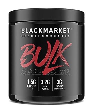 amazon com blackmarket adrenolyn bulk pre workout blue razz 30