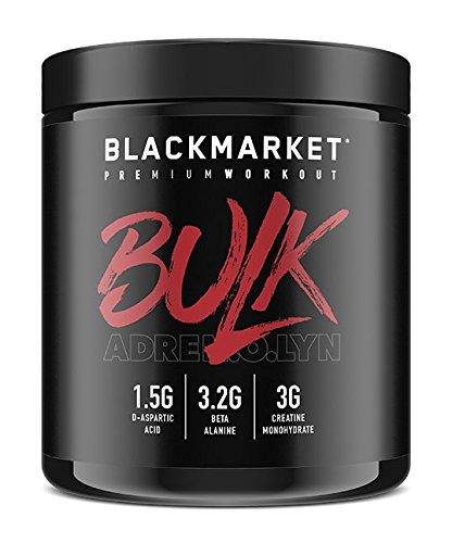 BLACKMARKET AdreNOlyn Bulk Pre Workout, Blue Razz, 30 Servings, 330g Review
