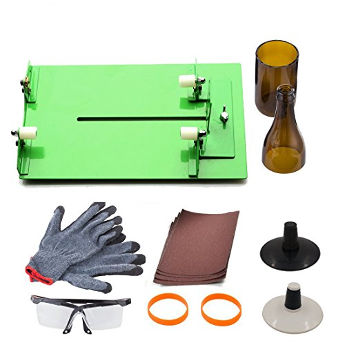 AceList® Wine Bottle Cutter Scoring Machine Cutting Tool Wine Bottle Cutter for DIY with Extra Cutting Wheel Included
