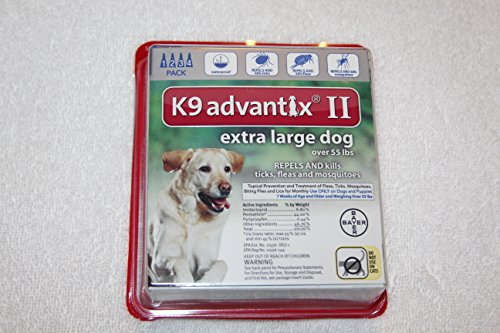 K9 advantix II for extra large dogs over 55 lbs 4 pack by K9 Advantix II