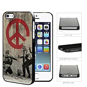 Soldiers Anti-War Peace Symbol Painting Hard Plastic Snap On Cell Phone Case Apple iPhone 5 5s