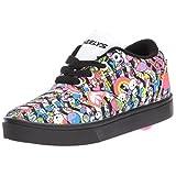 Heelys Girls' Launch Sneaker, Black/White/Multi, 7 Medium US Big Kid