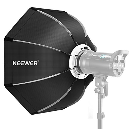 Neewer 26 inches/65 centimeters Foldable Octagonal Softbox with Bowens Mount Speedring, Carrying Case for Speedlite Studio Flash Monolight,Portrait and Product Photography by Neewer