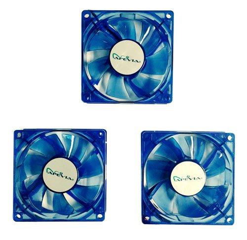 80mm blue led fan - 9