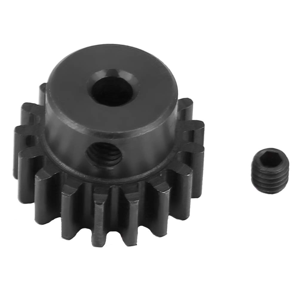 Black Steel Metal Motor Pinion Gear 17T 0.8 Module for HIMOTO E10MTL//E10MT//E10BP 1//10 RC Car Part RC Motor Gear