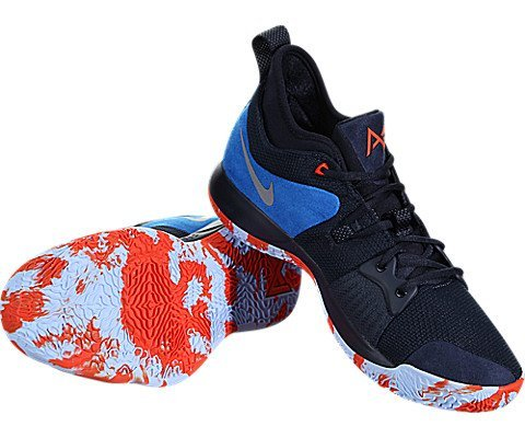 Nike Men's PG2 Paul George Craze OKC Shoe Dark Obsidian/Metallic Silver (12 D(M) US)