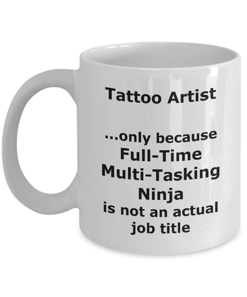 Amazon.com: Ninja Tattoo Artist Funny Gift Mug: Kitchen & Dining