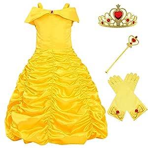 Niñas Princesa Bella Disfraces Disfraz Belle Vestirse Vestidos ...
