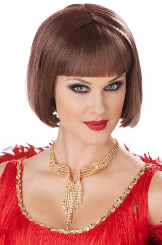 California Costumes Women's Classic Flapper Wig, Brunette, One Size - Flapper Girl Adult Wig