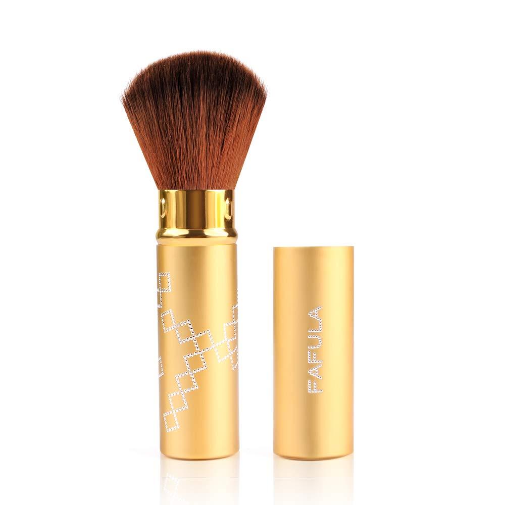 Lomezi Blush Brushes Retractable Kabuki Brushes Portable Travel Blush Makeup Brushes With Cover for Makeup Blush Powder Foundation Cream