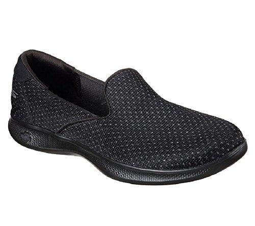 Skechers Womens Go Step Lite Glitz Slip On Black 5.5 B (m) Us