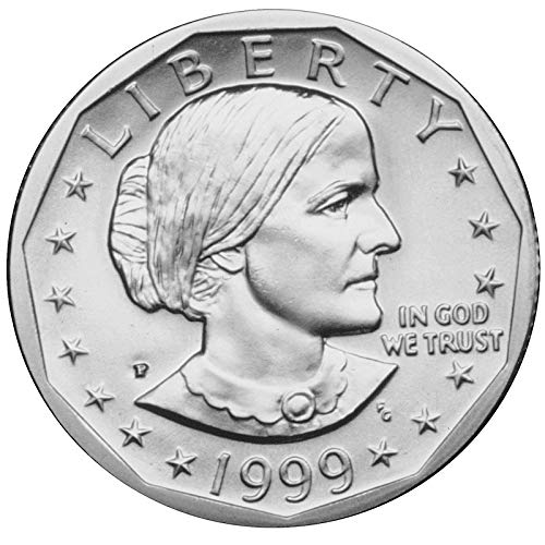 1999 P, D Susan B. Anthony Dollar 2 Coin Set Uncirculated ()