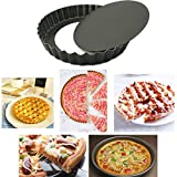 Non-stick Pizza Pan Mold 8 Inch 9 Inch Drop Battom Cake Pizza Baking Pans Mould