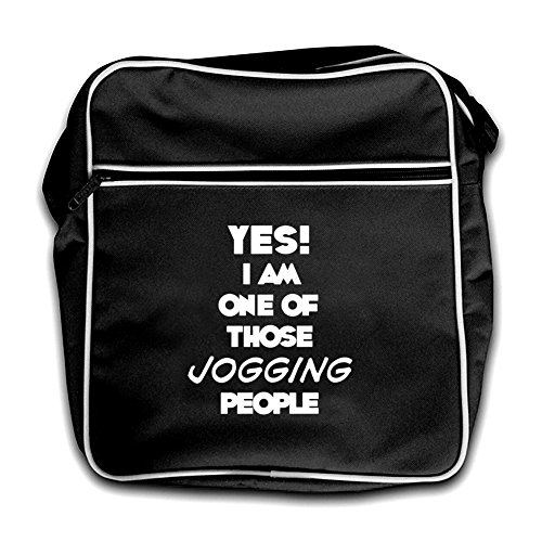 Retro JOGGING Yes Bag Black Black People One Am I Of Those Flight XXAT0
