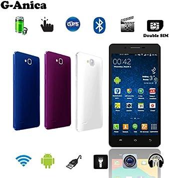 g-Anica Tablet Smartphones 4.5 (11,43 cm) Phablet Libre 3 G- Android 4.2, Dual Core, (854 x 480, cámara Doble, Doble Tarjeta SIM, Bluetooth, Wi-Fi, 4 GB ROM, 512mbo RAM) – Rosa: Amazon.es: Electrónica