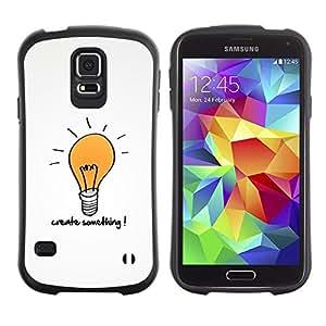 LASTONE PHONE CASE / Suave Silicona Caso Carcasa de Caucho Funda para Samsung Galaxy S5 SM-G900 / Creativity Motivational Quote Light Bulb Art