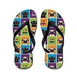 CafePress I Love Pugs Sm Color Squares - Flip Flops, Funny Thong Sandals, Beach Sandals