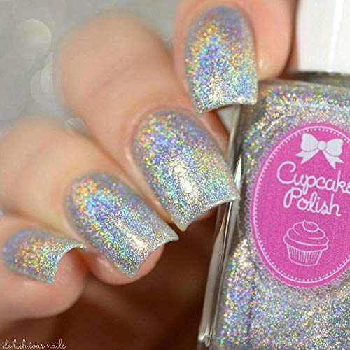 Top cupcake nail polish holographic