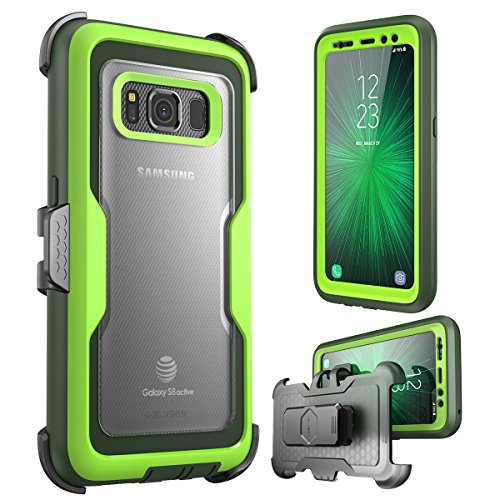 Price comparison product image i-Blason Galaxy S8 Active Case, [Magma] [Full body] [Heavy Duty Protection] Shock Reduction / Bumper Case with Built-in Screen Protector for Samsung Galaxy S8 Active (Not Fit Galaxy S8/S8 Plus)(Green)