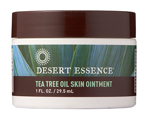 Desert Essence Organic Tea Tree Oil Skin Ointment - 1 fl oz - 6 Pack - Jojoba and Lavender Essential Oils - Vitamin E and Sweet Almond Extract - Moisturizer for Dry Skin, Skin Irritations, Cuticles