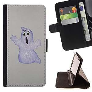 BullDog Case - FOR/Samsung Galaxy Note 3 III / - / Funny Ghost /- Monedero de cuero de la PU Llevar cubierta de la caja con el ID Credit Card Slots Flip funda de cuer