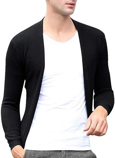 Loeay Cárdigan Casual para Hombre Suéter de algodón de Punto Otoño Invierno Clima Manga Larga Suéter de Punto Ligero Top Ropa de Hombre: Amazon.es: Ropa y accesorios