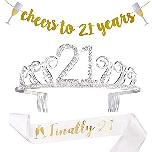 21st Birthday Decorations Party Supplies Gifts For Her21 Sash
