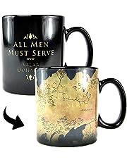 Game of Thrones MUGBGT05 warmtewisselbeker - Westeros kaart zwart 400 milliliter