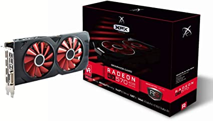 XFX RX-570P4DFD6 - Tarjeta gráfica (Radeon RX 570, 4 GB, GDDR5 ...