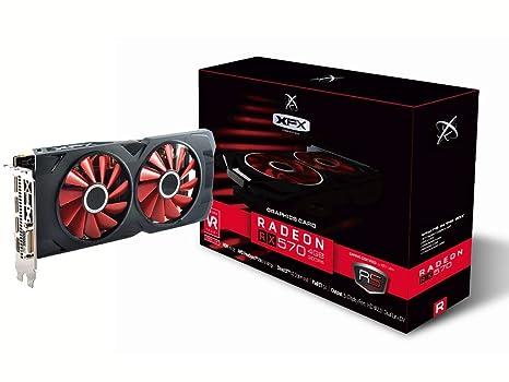 XFX RX-570P4DFD6 - Tarjeta gráfica (Radeon RX 570, 4 GB, GDDR5, 256 bit, 4096 x 2160 Pixeles, PCI Express 3.0)