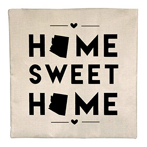 AVBER Pillow Case Home Sweet Home Alabama Flax Pillow Covers with Hidden Zipper Decorative Square Throw Pillow for Sofa Bedroom Car 18 x 18 Inch 45 x 45 -