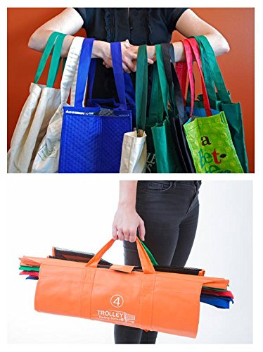Trolley Bags - Reusable Eco Friendly Grocery Bags to Easily and Safely Bag your Groceries From Your Cart. Sized for Standard Grocery Carts. Reusable Cart Bags. (Standard Cart Size) by Trolley Bags (Image #8)