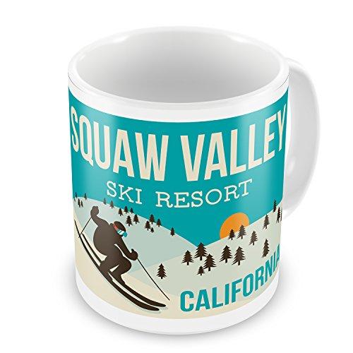 Coffee Mug Squaw Valley Ski Resort - California Ski Resort - NEONBLOND