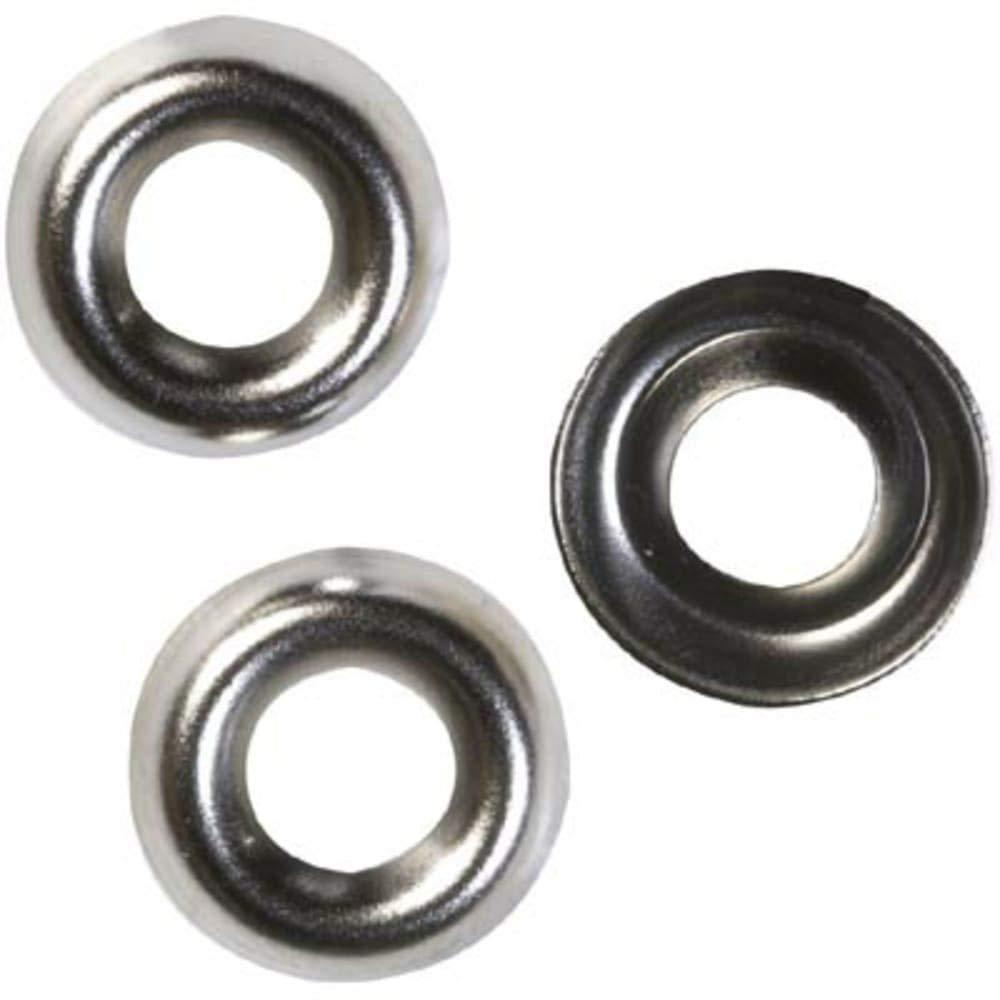 Washer; Metal; Nickel; 10-32 countersunk Screws, Pack of 5