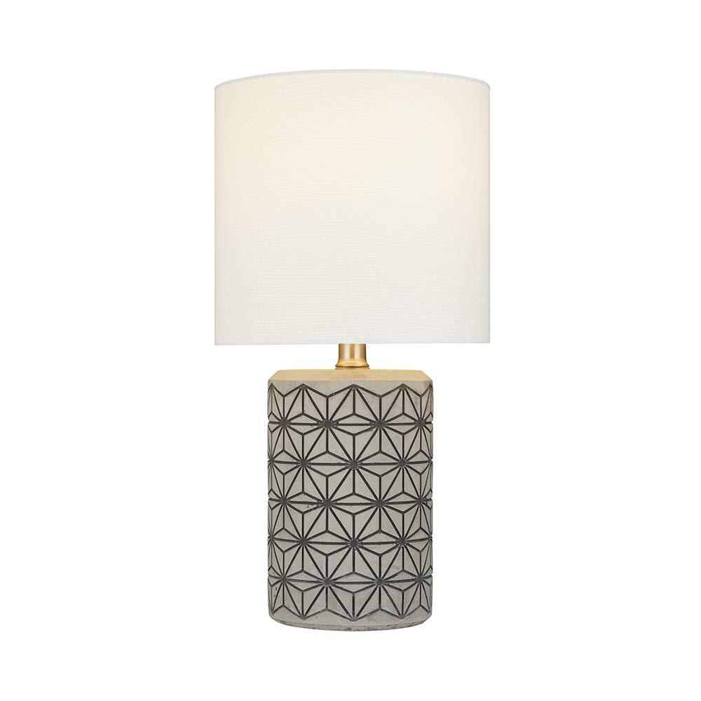 Amazon.com: Rivet Cement-Textured Lámpara de mesa, 21948-001 ...
