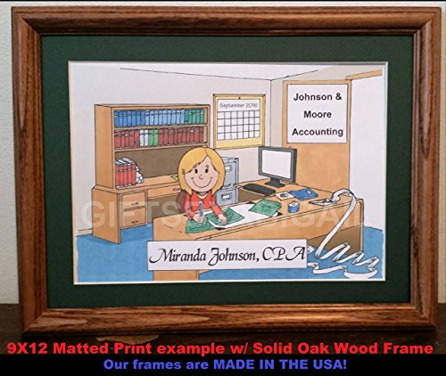 CPA Personalized Gift Custom Cartoon Print 8x10, 9x12 Magnet or Keychain by giftsbyabigail (Image #2)