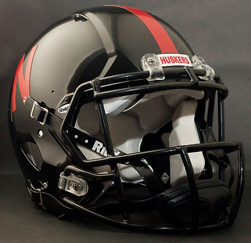 NCAA Riddell Nebraska Cornhuskers UNRIVALED Authentic Speed Helmet - Black by Riddell