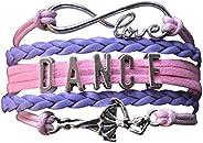 Infinity Collection Dance Bracelet- Dance Jewelry -Ballerina Charm Bracelet for Dance Recitals & Dancers,