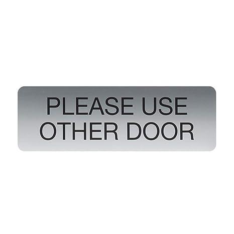 Amazon.com: Por favor, utilice otro adhesivo para puerta y ...