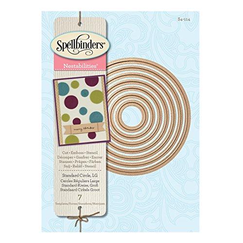 Spellbinders Nestabilities Standard Circles DieTemplate