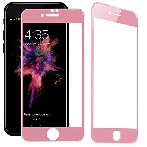 製造業ハンカチ終了しましたiPhone7 ガラスフィルム iPhone7 強化ガラスフィルム 強化液晶保護フィルム 薄型 高感度タッチ 気泡ゼロ 指紋防止 防爆裂スクラッチ防止 硬度9H 3D全面保護 高透過率 ブルーライトカット ソフトフレーム 3Dtouch 厚さ超薄0.26mm 撥油性 指紋防止 自動吸着 (対応機種iPhone7,ローズゴールド)