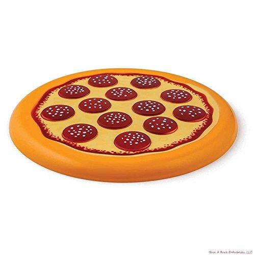 The Pizza Flying Disc - Pepperoni Flying Food - Frisbee Beach Fun (Halloween Pranks Pizza Box)