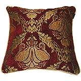 Paoletti Shiraz Cushion Cover, Burgundy, 45 x 45 Cm