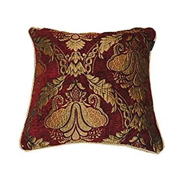 Amazon.com: Paoletti Shiraz cojín, burdeos, 17.7 x 17.7 inch ...