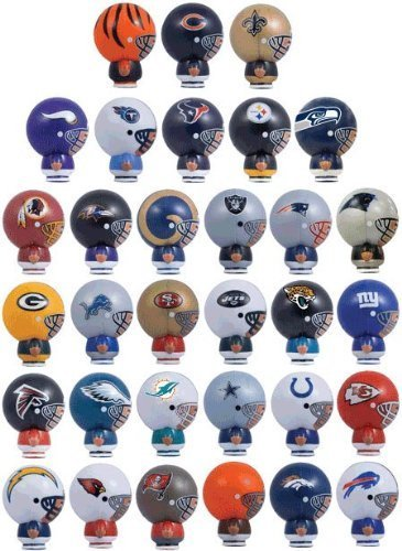 Mix of 12 NFL Random Football Mini Buildables Figures 2.5 Inch - 12 Teams in Set - Kids Birthday Cake Toppers Boys Superbowl Helmet Party Favors Vending Machine Lot