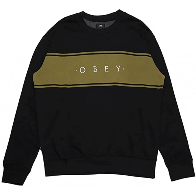sale retailer 30de9 f283d FELPA OBEY ROEBLING CREW NERA - L: Amazon.it: Abbigliamento