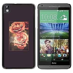 TopCaseStore / la caja del caucho duro de la cubierta de protección de la piel - Spring Text Summer Vignette - HTC DESIRE 816