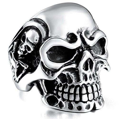 MOWOM Black Stainless Steel Silver