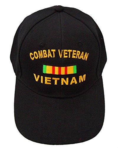 (Windcatcher Combat Veteran Vietnam Ribbon Cap Black)