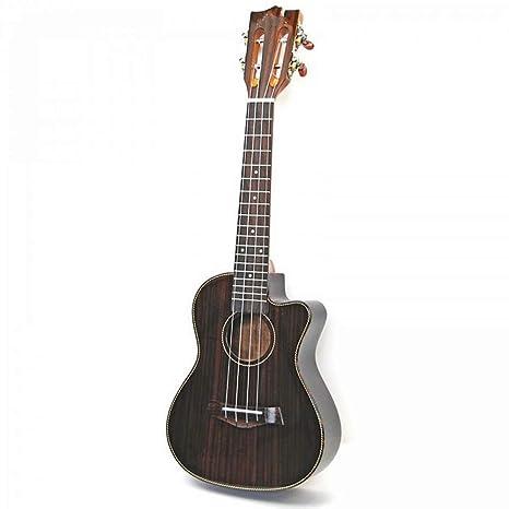 NING-MENG Ukulele Acabado Brillante Palo de Rosa Guitarra Eléctrica de 23 Pulgadas 4 Cuerdas